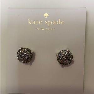 NWT KATE SPADE Silver Glitter Earrings
